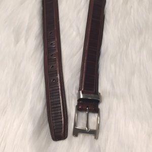 Mezlan Brown Leather Belt Size 38